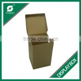 FLAT PACK CORRUGATED DISPLAY CARTONS WITH HANDLES PLAIN FURNITURE MOVING BOXES WITH CUSTOM PRINT