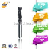 Tungsten Carbide square 2/3/4 flutes Milling cutters / Straight Shank End Mills / Router bits