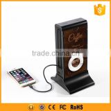 High capacity cafe power bank 20800mah with advertisement function