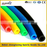 custom made colorful elastic latex training tube