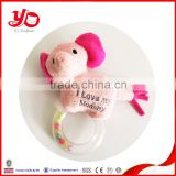 China wholesale stuffed plush baby rattle soft elephant toy rattle
