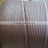 Manufacturer supply high tension galvanized / stainless steel wire rope