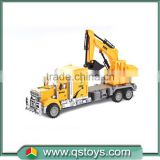Battery operated excavator truck toy 4 channel rc car with light in market