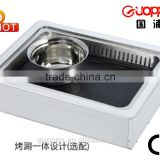 stainless steel electric Pan grill steam hot pot and Teppanyaki bbq grill, GEF-2000DCT
