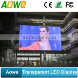 new design customized acrylic transparent glass led display with light weight                                                                         Quality Choice