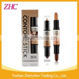 Kiss Beauty stick foundation packaging Double-ended 2 in1 Contour Stick Contouring Highlighter Bronzer 3D Face Makeup Concealer