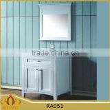 New Modern waterproof marble countertop ceramic basin MDF bathroom cabinet RA051 with solid wood leg
