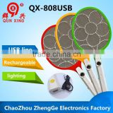 QX808USB-2 factory wholesales cheap price rechargeable electric indoor insect killer used by USB line
