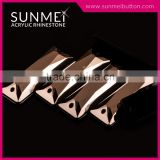 Factory Price Baguette Shape Jet Hematite Sewing Acrylic Gems In Stock