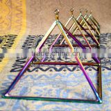 one set quartz crystal singing pyramid for healing therapy energy