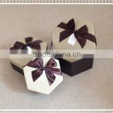 Gift Boxes with ribbon for diamond shape