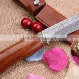 OEM imported damascus blade material knife with rosewood handle