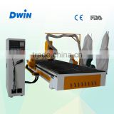 Jinan Dwin wood carving machine , wood furniture design machine cnc router for 3d engraving