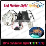 6pcs*3W leds 18W 12V RGB LED Underwater Light Fountain Light Swimming Pool Aquarium LED Light Lamp IP68