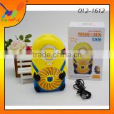 2016 Latest high quality electric Fan Mini Minions Desk or Table USB Fan Rechargeable Fan