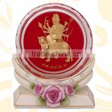 crystal paper weight inside 3d gold foil mata design selling in cheap price