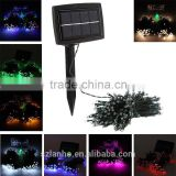 2016 new colorful 200 LED Solar powered Fairy String Decoration Light Xmas Wedding Party