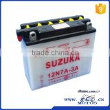 SCL-2012122206 wholesales high quality 12N 7A 3A Motorcycle Standard Storage Battery