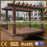 Foshan composite wood metal pergola without moq limited.
