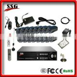 16ch H.264digital video recording system built in GSM alarm system module with free dvr server software