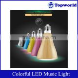 Fashion Colorful PC LED Light Power 10W Lamp Thread Size E27 Bluetooth LED Light Suitable For Android Cell Phone Tablet PC