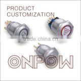 ONPOW Latching metal push button switch(customized for All the metal series,CE,CC,ROHS,IP65,IP67)