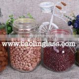 Clear Glass Hermetic Food Storage Container/canister with Glass Locking Lid
