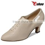 Evkoo brand Shoes MOON Ladies Ballroom Dance Shoes High Heel Tan Satin Waltz Tango Foxtrot Quickstep Vien Mordern Shoes