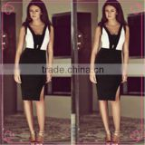 ladies woolen suits lady woolen party dress black and white