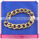 Cheap wholesale mens stainless steel bracelets, hot sale weight imitation gold bracelet