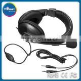 Gaming Headphone 3.5mm Surround Stereo Headset Headband Headphone with Mic for PC Laptop Low Bass Wired Headset