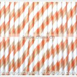 party straw/individually paper wrapped disposable plastic drinking straws for wedding party