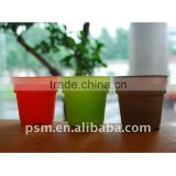 Biodegradable disposable eco friendly plastic flower pot