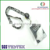 New products on china market satin ribbon lanyard with badge reel,novel products to sell