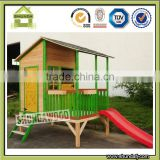 SDPH03 Kids wooden playhouse for outdoor playground