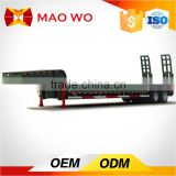 China manufacturer 3 axles 50T low flatbed deck truck semi trailer or flat bed tow trucks