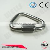 Rigging Hardware Stainless Steel Triangle nickel Plated Delta Shaped Quick Link For Wire Rope