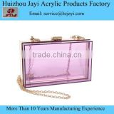 Wholesale Custom Acrylic Perspex ladies womens purse and wallets china