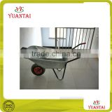 Hot sell Russia style galvanized bucket / tray dural handle concrete or garden tool Wheel barrow manufacture WB6080