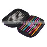 22pcs Multicolour Aluminum Crochet Hook Set Weave Craft Yarn knitting needle case