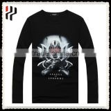 Custom Cotton T shirt , Breathable black T shirt Printing , Blank 100% Cotton T shirt Men