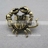 fashion alloy crab style ring, vintage animal ring