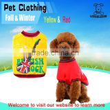 China wholesale japanese design fashion rock band printed pet clothes high quality dog jacket and winter sweater