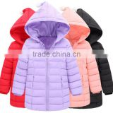 Factory direct supply oem high quality customize gilrs winterproof padded jacket,kids quilted jackets