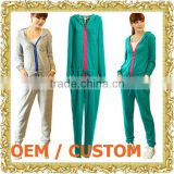 Customized zipper up jumper suit ladies romper with hood one piece jumper dress thong bodysuit
