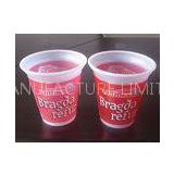 White Disposable Plastic Ice Cream Cups For Yogurt 250ml 8oz 70 Degrees