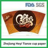 PE Coated Paper Cup Fan With Print And Cutted