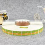 China manufacturer wholesale reel colorful paper sticker /adhesive roll label for food packaging