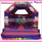 Commercial pvc peppy pig bouncer/bouncing trampoline
