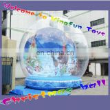 2013 hot sell Christmas inflatable snow globes / Xmas snow globes / inflatable christmas decorations